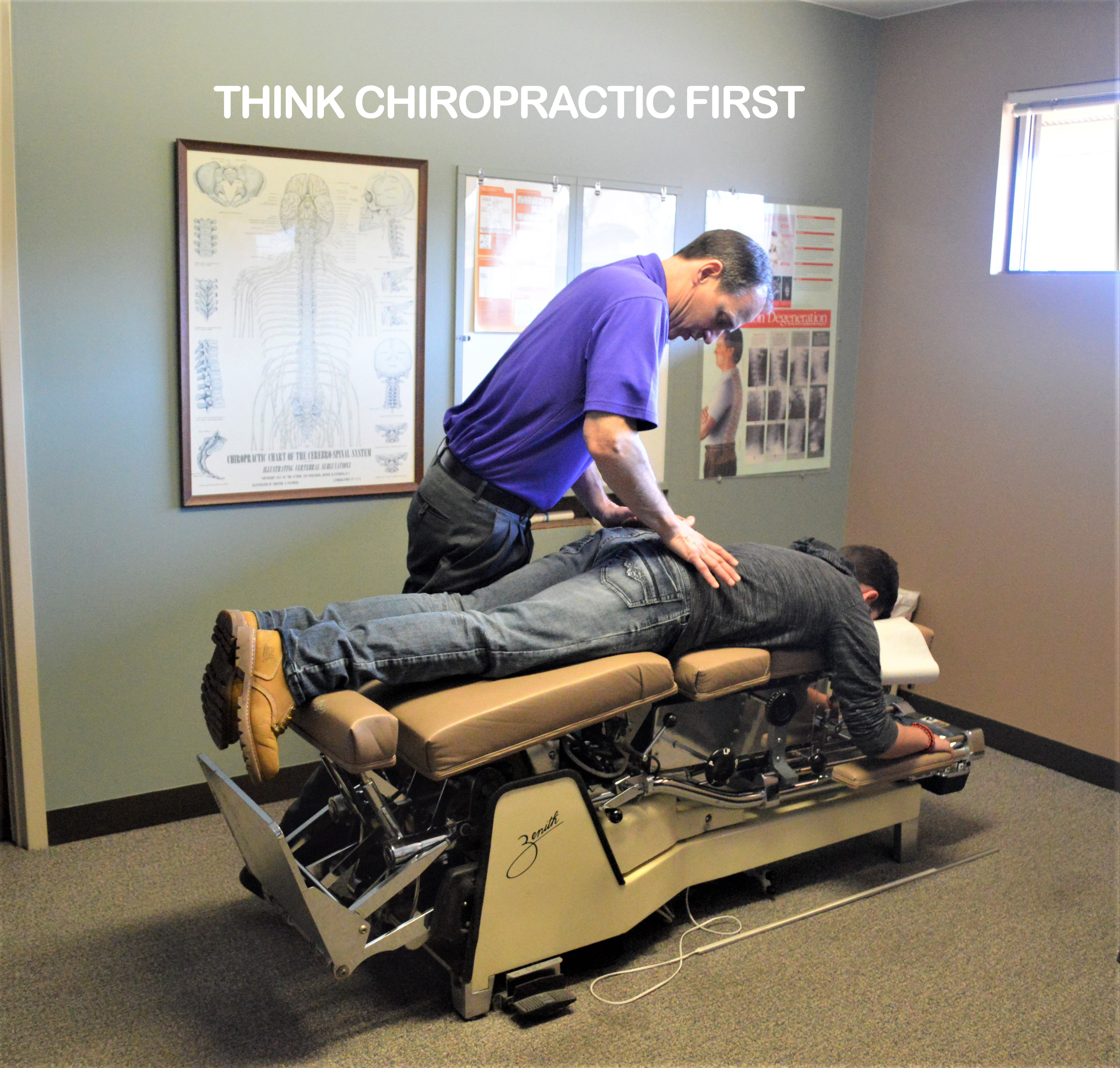 Man receiving chiropractic care